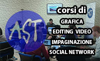 Corsi di editing video, grafica, impaginazione, social network